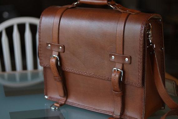 handmade leather bag for laptops
