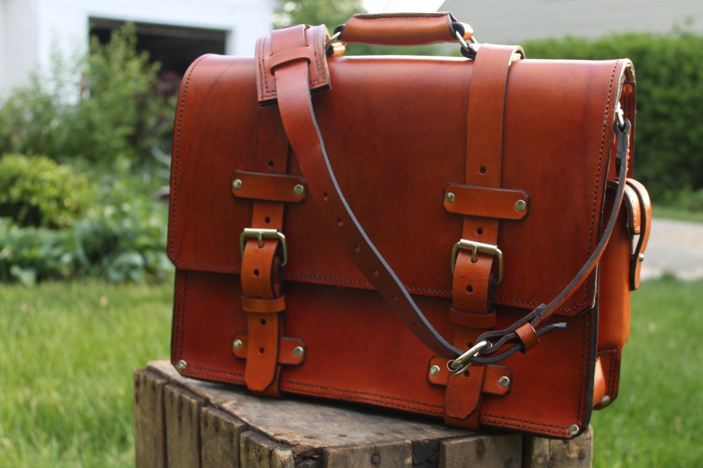 Handmade leather briefcase that will outlast you